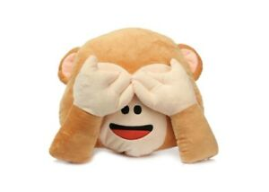 Monkey Emoji Pillow Cushion Plush Doll Toy Home Bed Kids Room Decor