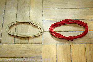 2 Mt RED & WHITE GUITAR ELECTRIC 22 AWG VINTAGE CLOTH COVERED WIRE
