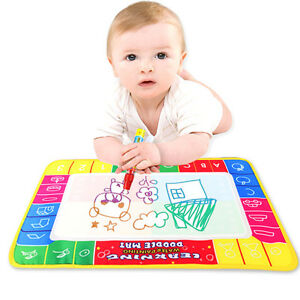 Baby-Kids-Toy-Activities-Water-Scrawl-Drawing-Mat-Drawing-Painting-Magic-Pen-New