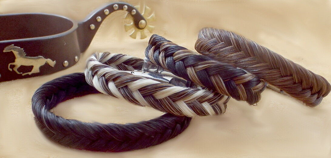Exceptional hand-made magnetic clasp  horse hair hair hair bracelet sorrel-Marrone horsehair 03172d