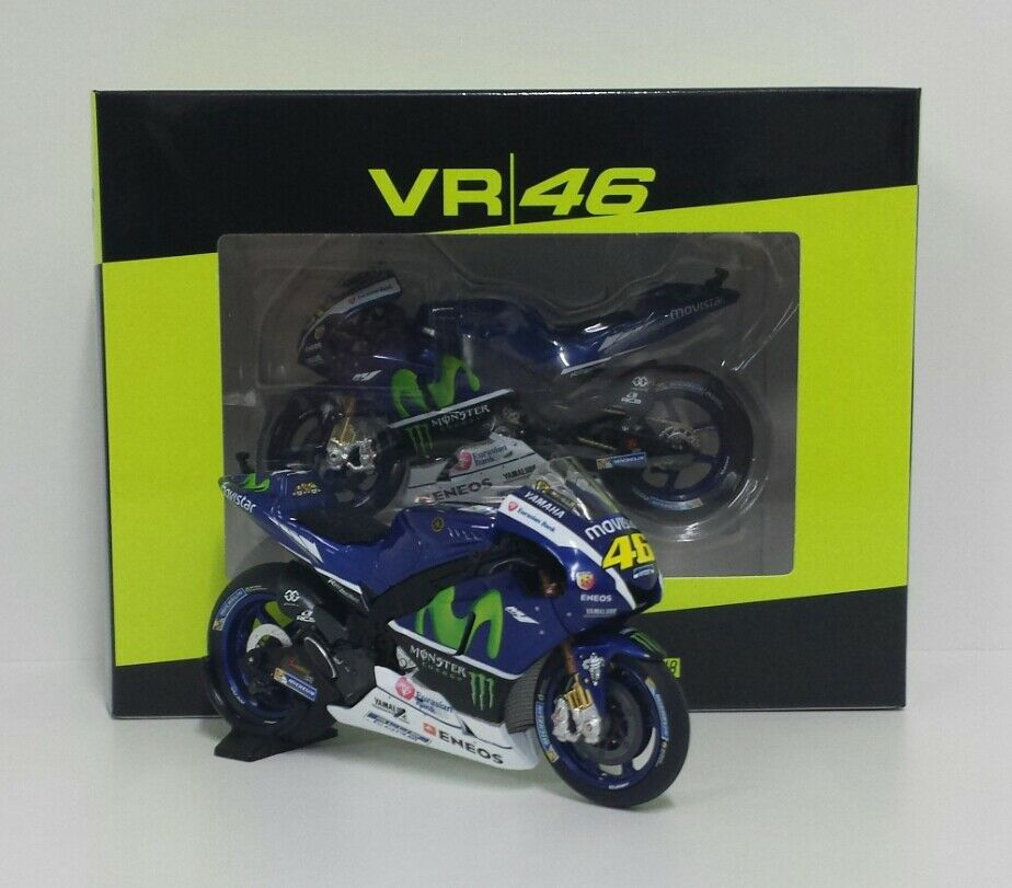MINICHAMPS VR 46 VALENTINO ROSSI 1 18 YAMAHA M1 MOVISTAR TEST BIKES MOTOGP 2016
