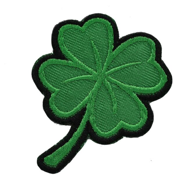 Lucky Shamrock Clover Irish Ireland St Patrick Embroidered twill Patch
