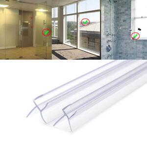 2pcs 90cm joint d 39 tanch it pvc pour porte de douche verre paisseur 6mm 8mm ebay - Joint d etancheite pour douche ...