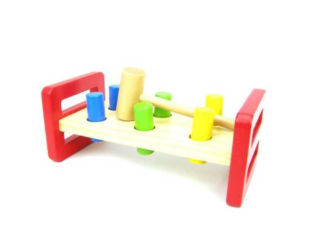 NEW Tooky Toy Wooden Hammer Bench Toy from Baby Barn Discounts