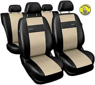 Car seat covers fit Toyota Prius full set black//grey leatherette