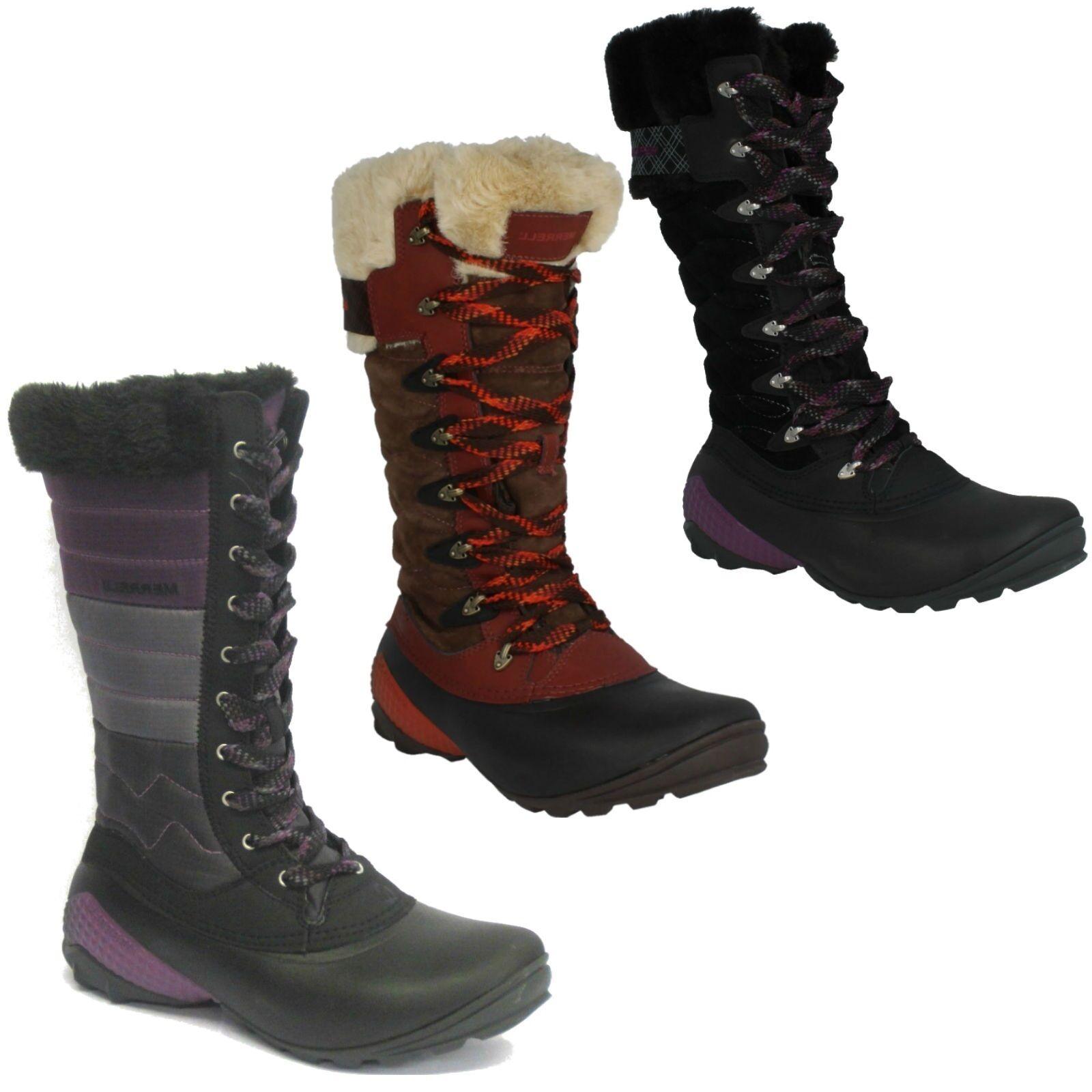 Señoras Winterbelle Peak Impermeables Merrell Mitad de Pantorrilla Cálidas Invierno botas De Nieve