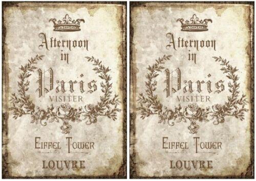 12432 DECOUPAGE-bastelpapier-Soft carta-TOVAGLIOLI tecnica-VINTAGE-French-Parigi