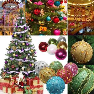 Christmas Tree Ornaments.Details About Christmas Rhinestone Glitter Baubles Balls Xmas Tree Ornament Decor 8cm Hy