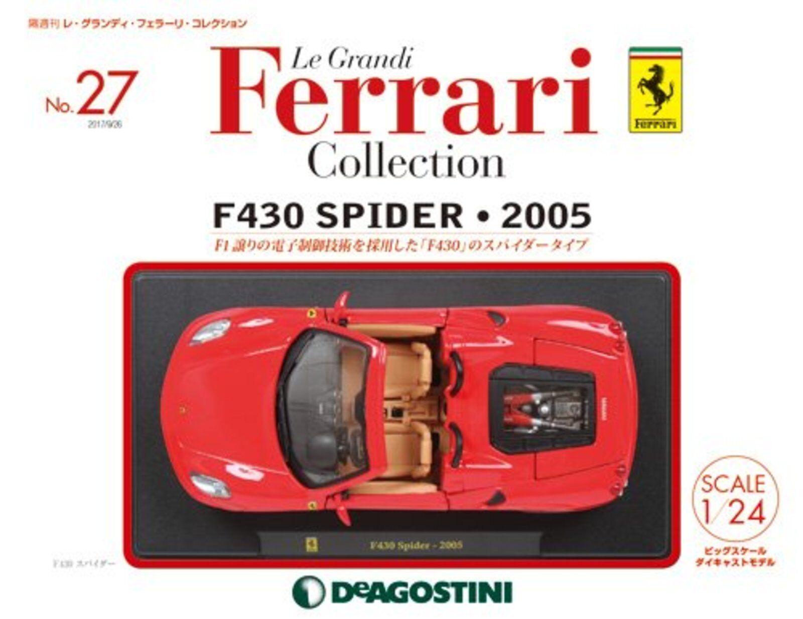 Le Grandi  Ferrari Voiture Modélisme Moulage sous Pression No27 F430 Spider 2005  présentant toutes les dernières mode de la rue haute