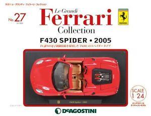 Le Grandi Ferrari Voiture Modélisme Moulage Sous Pression No27 F430 Spider 2005