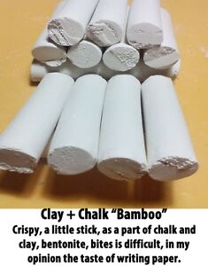Chalk-natural-Edible-chalk-clay-chalk-034-Bamboo-034-200gr-Free-samples