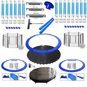 trampolin ersatzteile 244 305 366 400 430 460 cm randabdeckung sicherheitsnetz ebay. Black Bedroom Furniture Sets. Home Design Ideas