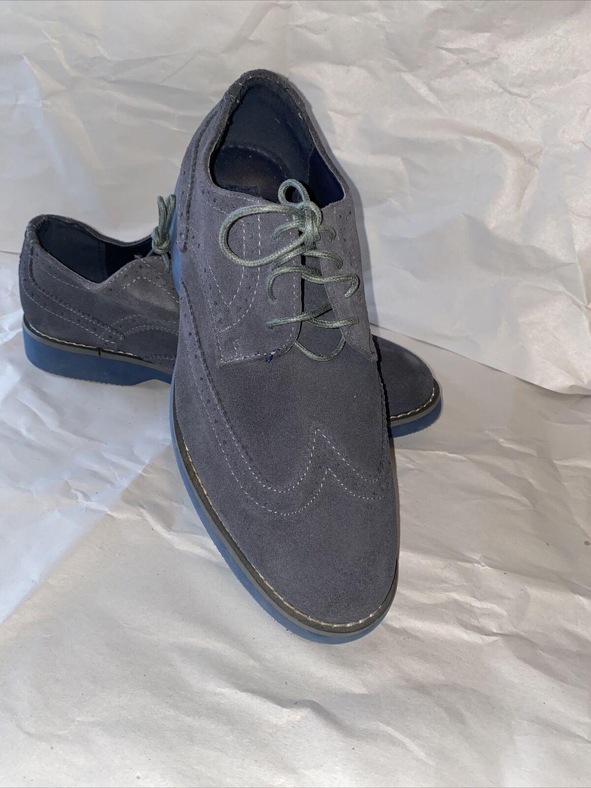 Joseph Abboud Grayish Beige Suede Wingtip Dress Shoes Men's Size 9.5