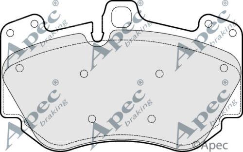 PAD1647-12 Months Warranty! Brand New Apec Front Brake Pad Set