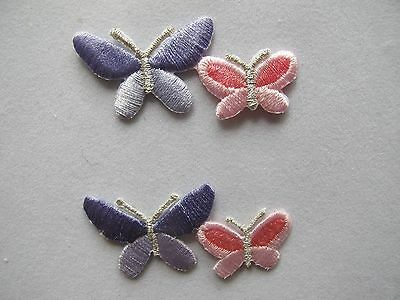 #3963 Purple,pink Butterfly Embroidery Iron On Applique Patch