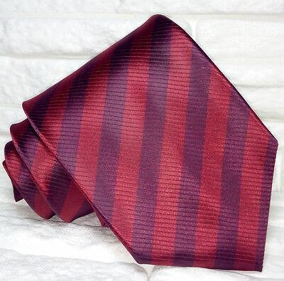 Consegna Veloce Cravatta Uomo Regimental Rosso Made In Italy 100% Seta Business Evento Informale Sconti Prezzo