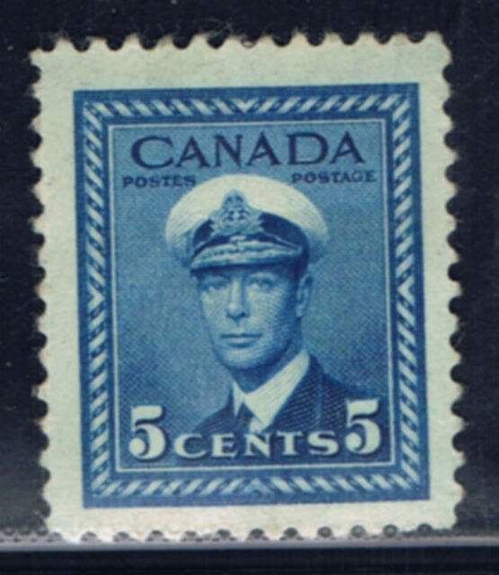 Canada #255(7) 1942 5 cent deep blue King George VI MLH CV$2.00