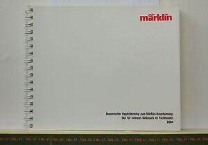 Catalogue Marklin Ho Z & 1 - 2004 F Reservé Détaillant Code Barre 212 P Neuf