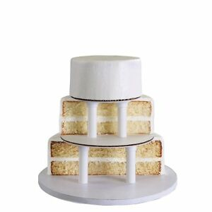Bakery Crafts Sps 3 Tier Round Cake Stacking Kit For Cake Sizes 6