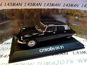 CEN4G-voiture-1-43-NOREV-atlas-voiture-de-mon-pere-CITROEN-DS-21-noire