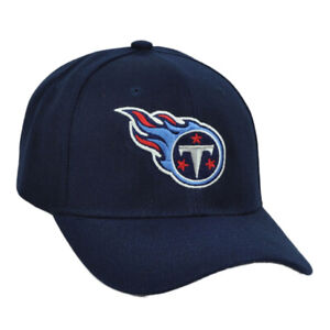 NFL-Tennessee-Titans-Navy-Blue-Hat-Cap-Curved-Bill-Constructed-Adjustable