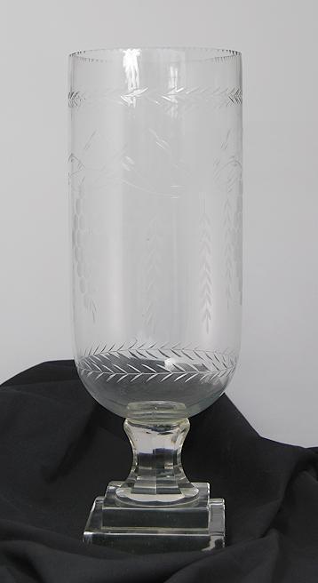 Vase, Glasvase geschliffen H 41 cm