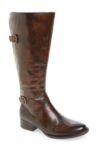 BORN GIBB Burnished Leather Riding Boots sz 9 M Lk