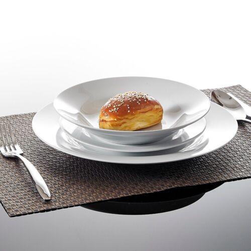 18pc Round dîner ensemble en porcelaine de Chine vaisselle salle à manger Service de 6 assiettes bols