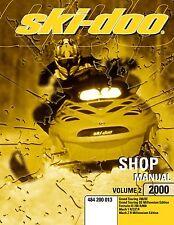 Ski-Doo service manual 2000 MACH 1 R / Z / Z R & MACH Z R MILLENNIUM EDITION