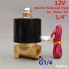 """12V DC 1/4"""" DN8 Brass Electric Solenoid Valve Water Air Gas Oil N/C 2W025-08"""