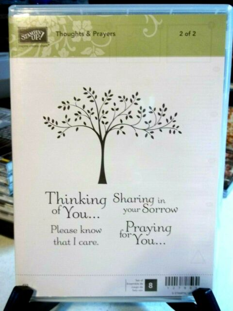 THOUGHTS & PRAYERS Stampin Up New Sympathy Get Well Soon Praying Thinking Of You