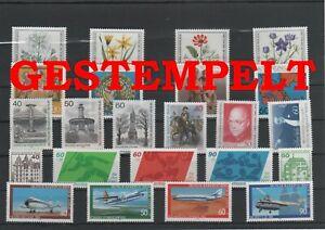 Germany-Berlin-vintage-yearset-1980-Postmarked-Used-complete-More-Sh-Shop