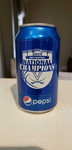 2019 UVA Virginia Cavaliers National Champions Limited Edition Sealed PEPSI Can