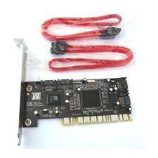 4 SATA SERIAL ATA PCI CONTROLLER RAID I/O CARD PC+Cable