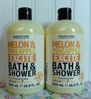 2 Creightons Melon & Pineapple Excite Bath & Shower Body Wash 16.9 Oz