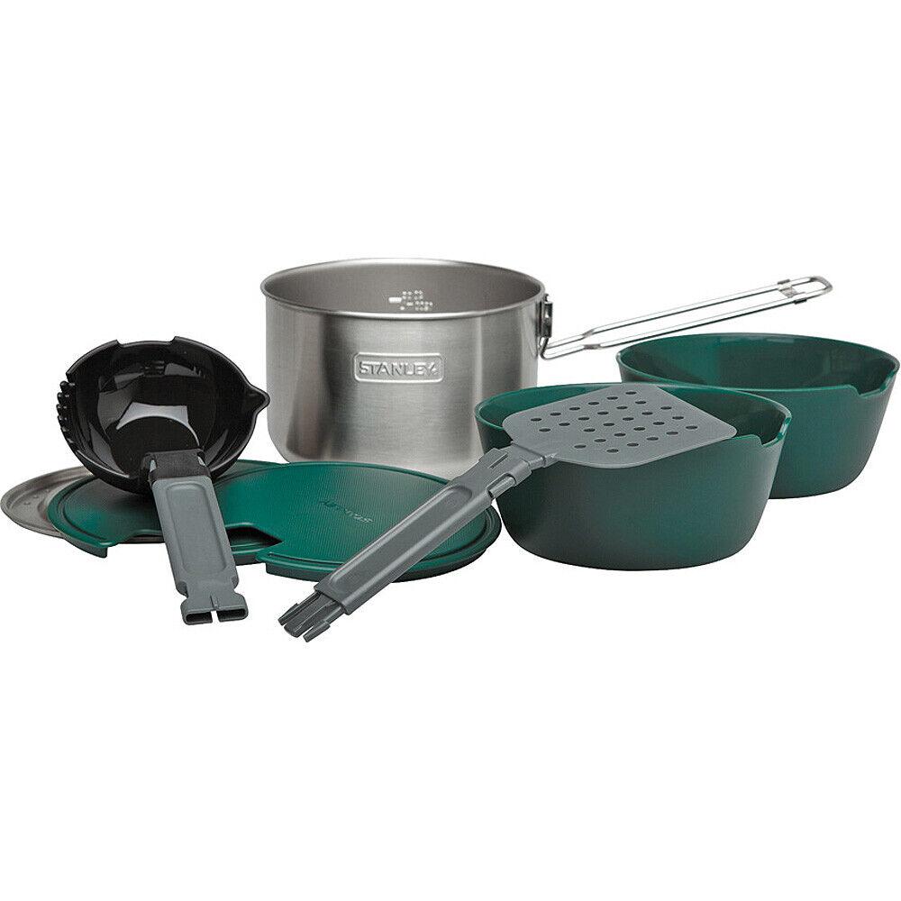 Stanley Adventure Prep & Cook Set, 10 teiliges Koch Set aus 18 8 Edelstahl