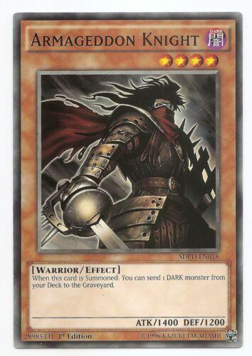Armageddon Knight SDPD-EN018 Common Yu-Gi-Oh Card English 1st Edition New
