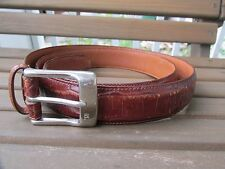 Ralph Lauren Sz 40 Brown Genuine Leather Men's Belt