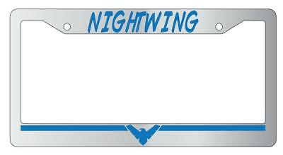 Nightwing BLUE Chrome Plastic License Plate Frame DC