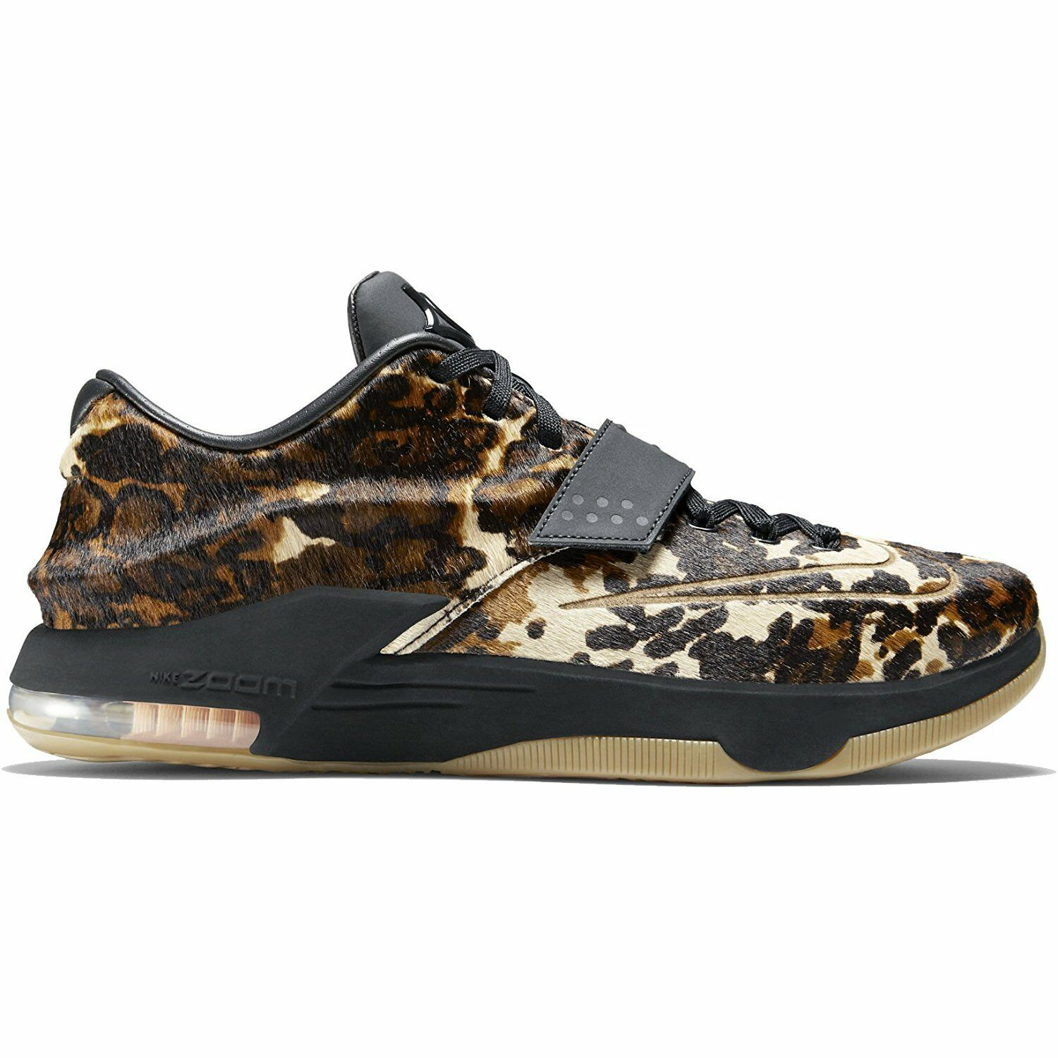 Men's Nike Kevin Durant VII EXT Quick Strike Leopard Athletic Fashion 716654 001 best-selling model of the brand