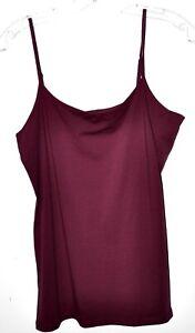 Ann-Taylor-Loft-Crimson-Adjustable-Shoulder-Straps-Cami-Tank-Sz-Large-NWT