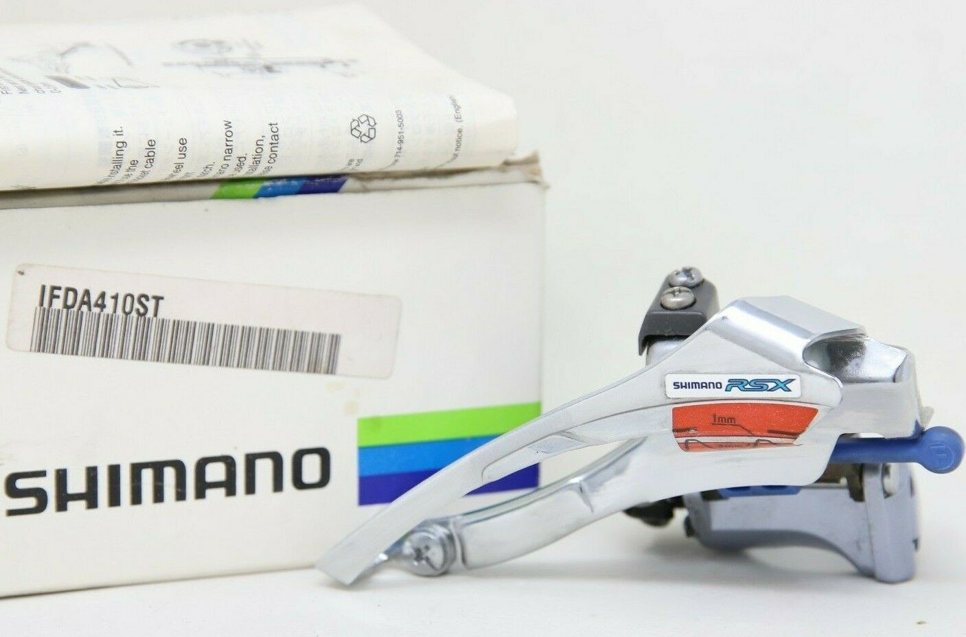 NOS SHIMANO RSX FD-A410 FRONT DERAILLEUR MECH CLAMP-ON 28,6 TRIPLE DOWN PULL OLD
