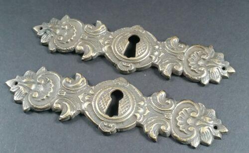 "2 Vintage Antique Style Ornate French Eschutcheons Key Hole Covers 4 3//4/"" #E16"