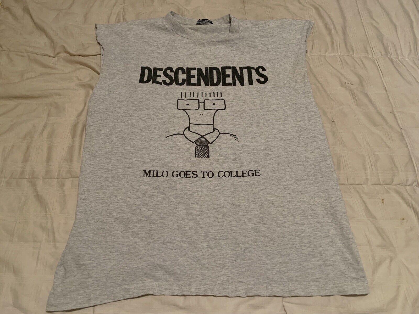 Descendents Milo Goes To College T hemd Vintage Größe XL