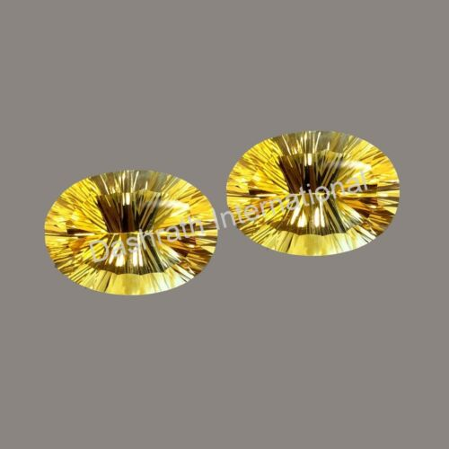 Natural Citrine Oval Concave Cut Loose Gemstone Calibrated AA Quality