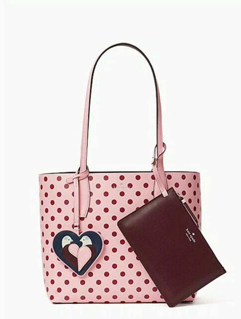 Red Design Arrow Heart Illustration Handbag Craft Poker Spade Canvas Bag Shopping Tote