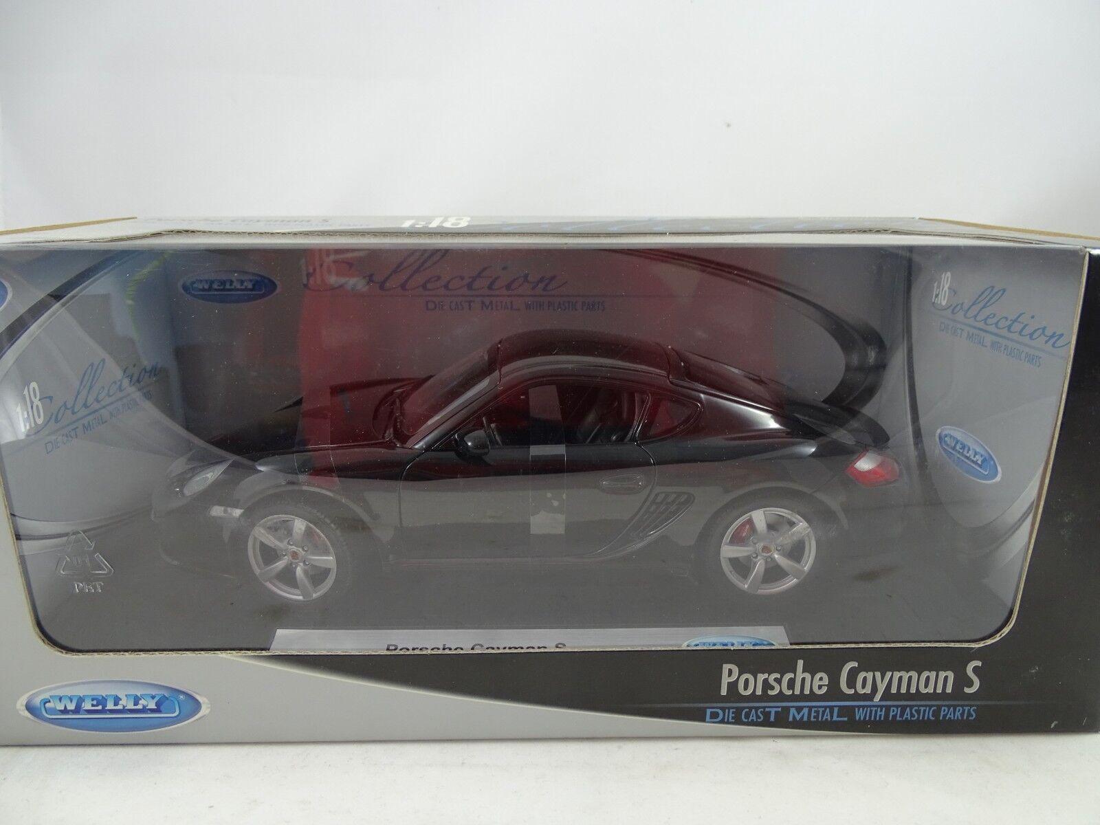 Welly 18008W Porsche Cayman S Negro - Rareza§