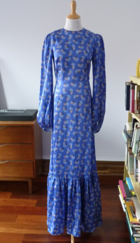 The Vampires Wife blue silk dress UK size 10 US si