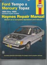 FORD TEMPO AND MERCURY TOPAZ AUTOMOTIVE REPAIR MANUAL - 1984 - 1994