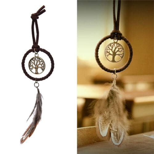 Boho Key Chain Ring Metal Feather Tassels Dream Catcher Keyring Keychain Fad FO